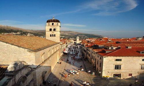 Zdjęcie CHORWACJA / Dubrovnik / Dubrovnik / główna ulica miasta
