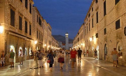 Zdjecie CHORWACJA / Dubrovnik / Dubrovnik / g��wna ulica no