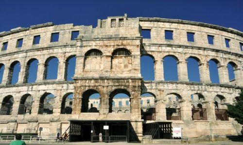 Zdjęcie CHORWACJA / Istria / Pula / Amfiteatr rzymski w Puli