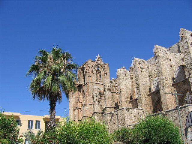 Zdj�cia: Famagusta, turecka cz�� Cypru, Meczet Lala Mustafa Paszy (katedra �w. Miko�aja), CYPR