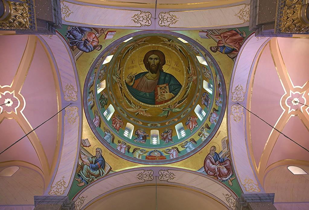 Zdjęcia: Katedra Agia Napa, Limassol, Sklepienie z kopułą, CYPR