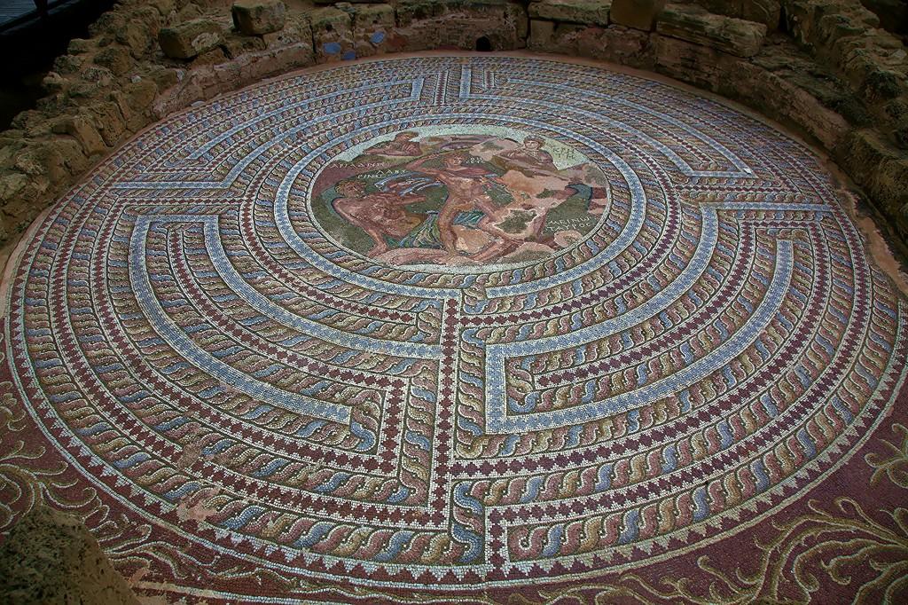 Zdjęcia: Mozaiki w Parku Archeologicznym, Pafos, Walka Tezeusza z Minotaurem, CYPR