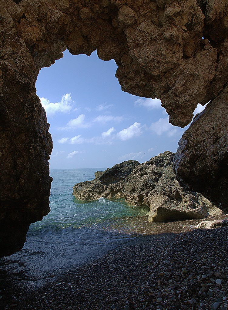 Zdjęcia: Droga z Pissouri, Pafos, Skała Afrodyty z widokiem, CYPR