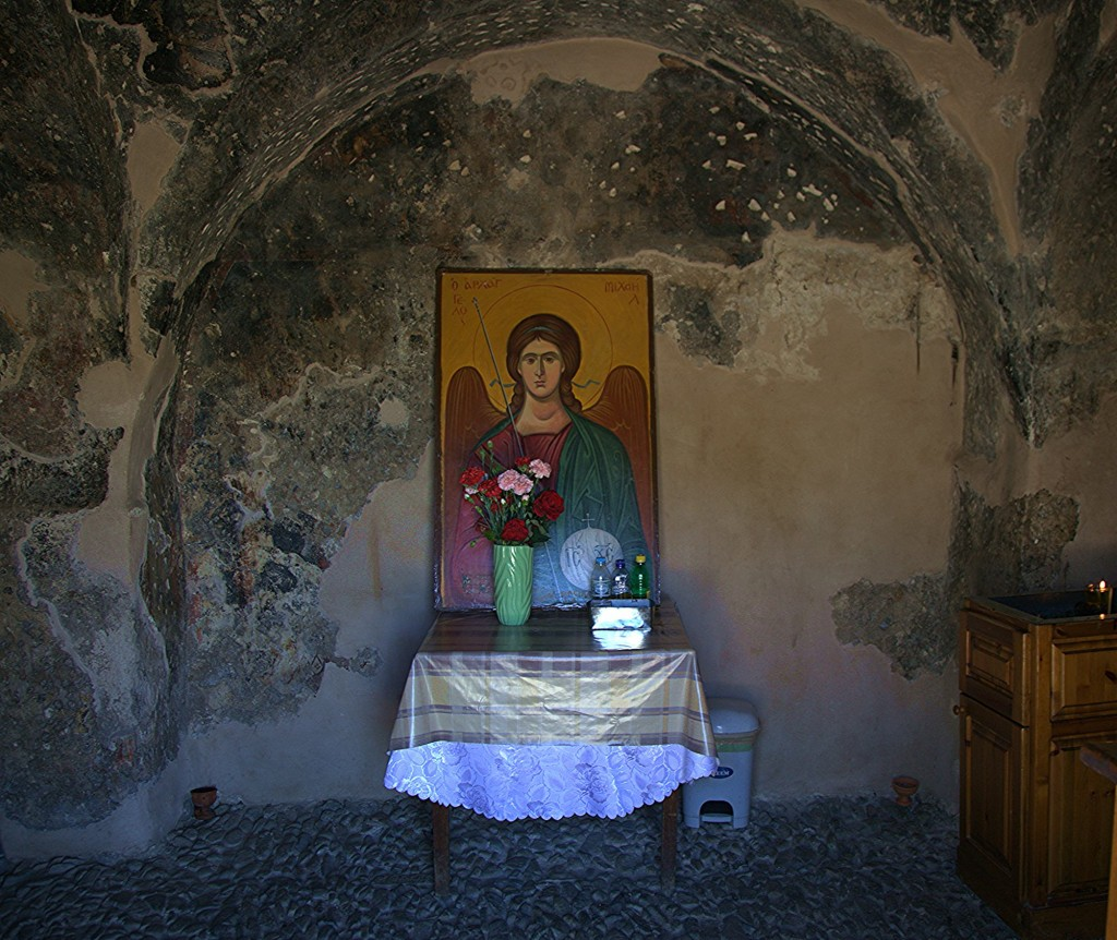 """Zdjęcia: Kato Pyrgos, Tylliria, Kaplica Matki Boskiej """"Galoktisti"""", ołtarz boczny, CYPR"""