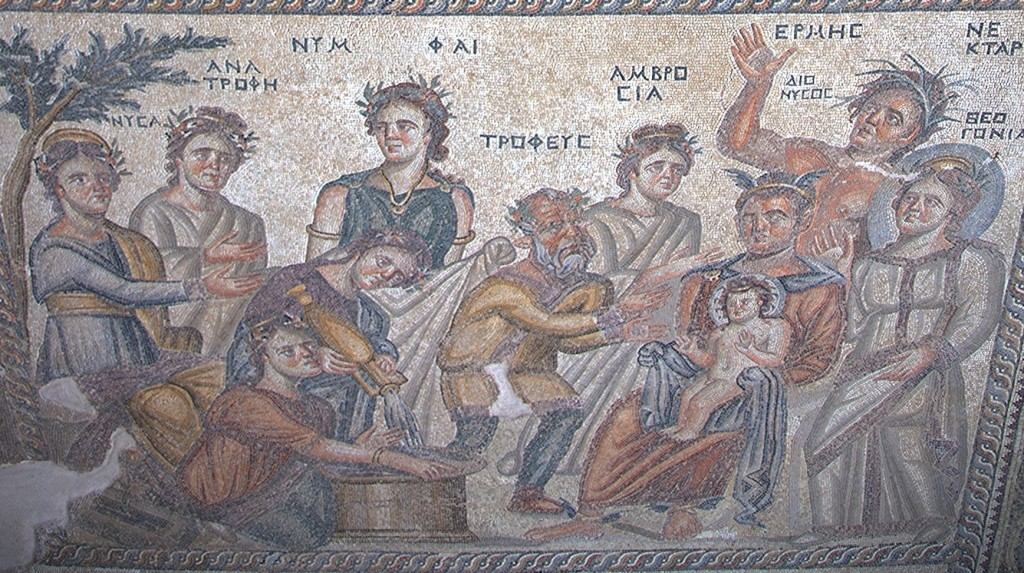 Zdjęcia: Posadzka w domu Aiona, mozaiki, Pafos, Park archeologiczny, Kąpiel Dionizosa, CYPR