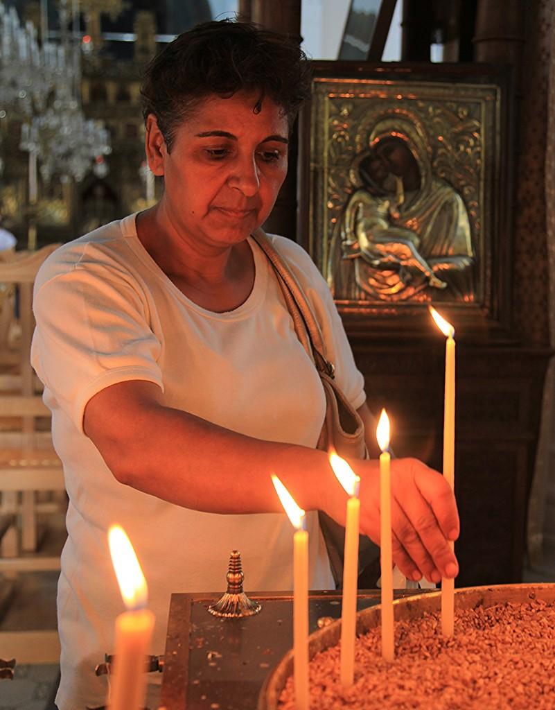 Zdjęcia: Kościół Faneromeni, Nikozja, W świątyni, CYPR