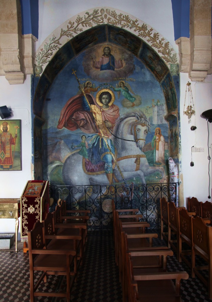 Zdjęcia: Paralimni, , Famagusta, Kościół św. Jerzego, malowidło, CYPR
