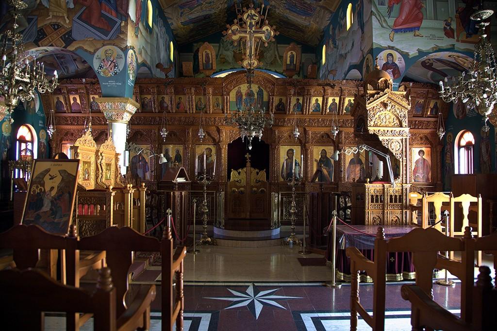 Zdjęcia: Pachiamos, Tylliria, Kościół św. Rafaela, wnętrze, CYPR