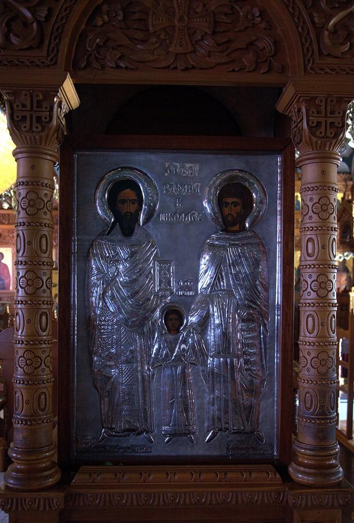 Zdjęcia: Pachiamos,Kościół św. Rafaela , Tylliria, Ikona św. Rafaela i Mikołąja, CYPR