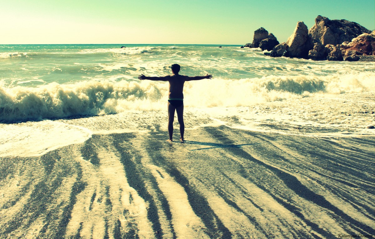 Zdjęcia: Plaża w pobliżu Petra tou Romiou, Paphos, Dla takich chwil podróżuję, CYPR