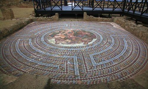Zdjecie CYPR / Pafos / Mozaiki w Parku Archeologicznym / Walka Tezeusza z Minotaurem