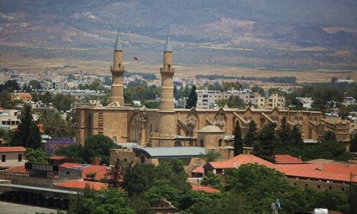 Zdjecie CYPR / Nikozja / Wieża i obserwatorium Shacolas  / Katedra św. Zofii/Meczet Selimiye