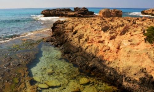 CYPR / - / Ayia Napa / Piękne wybrzeża w słoneczny dzień
