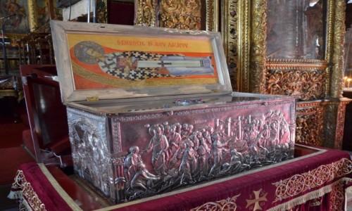 Zdjęcie CYPR / południe / Larnaka / Srebrny sarkofag z relikwiami św. Łazarza
