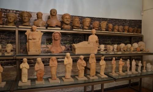 Zdjęcie CYPR / grecka część wyspy. / Larnaka - muzeum / Z wykopalisk - część zbiorów
