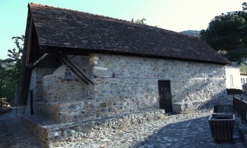 CYPR / Góry Troodos / Pedoulas /  Kościół Archangelos Michael XV w.