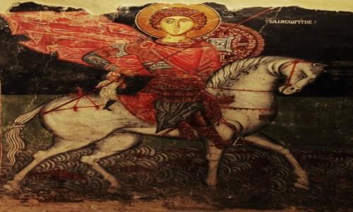 CYPR / Góry Troodos / Pedoulas / Kościół Archangelos Michael XV w. freski