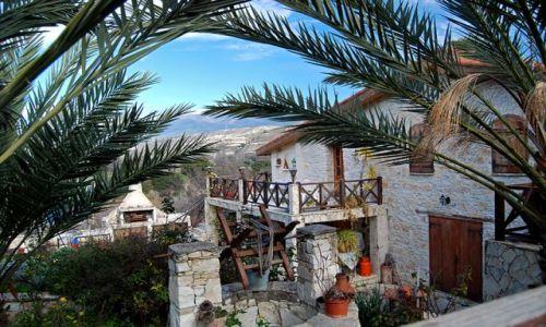 Zdjęcie CYPR / Troodos / Lania / Zabudowa w wiosce Lania
