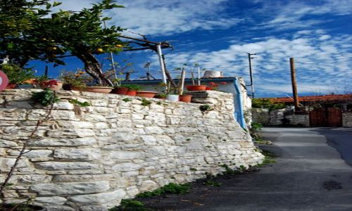 Zdjecie CYPR / Troodos / Lania / Zabudowa wioski