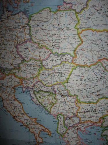 Zdjęcia: Czarnogóra, jugosławiańska mapa, CZARNOGÓRA