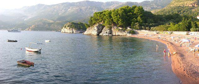 Zdjęcia: Św. Stefan, Czerwona plaża, CZARNOGÓRA