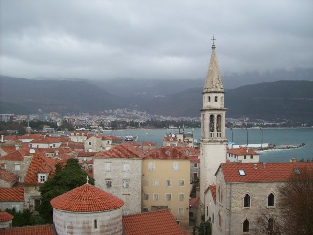 Zdjęcia: Budva, Czarnogóra, widok na stare miasto, CZARNOGÓRA