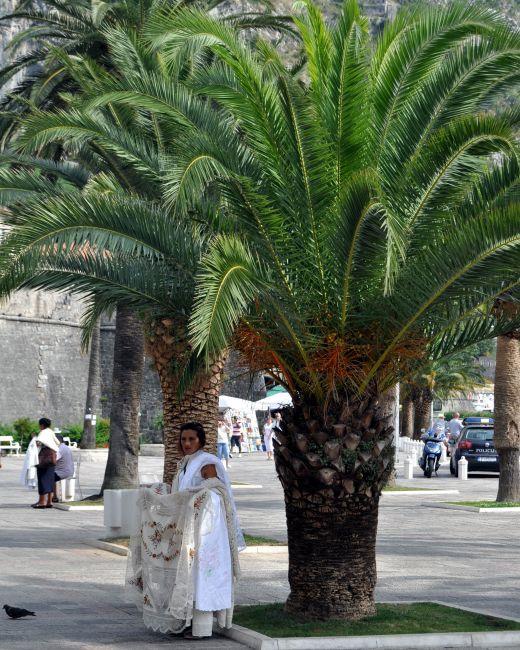 Zdjęcia: Kotor, Bałkany, Sprzedaż obrusów, CZARNOGÓRA