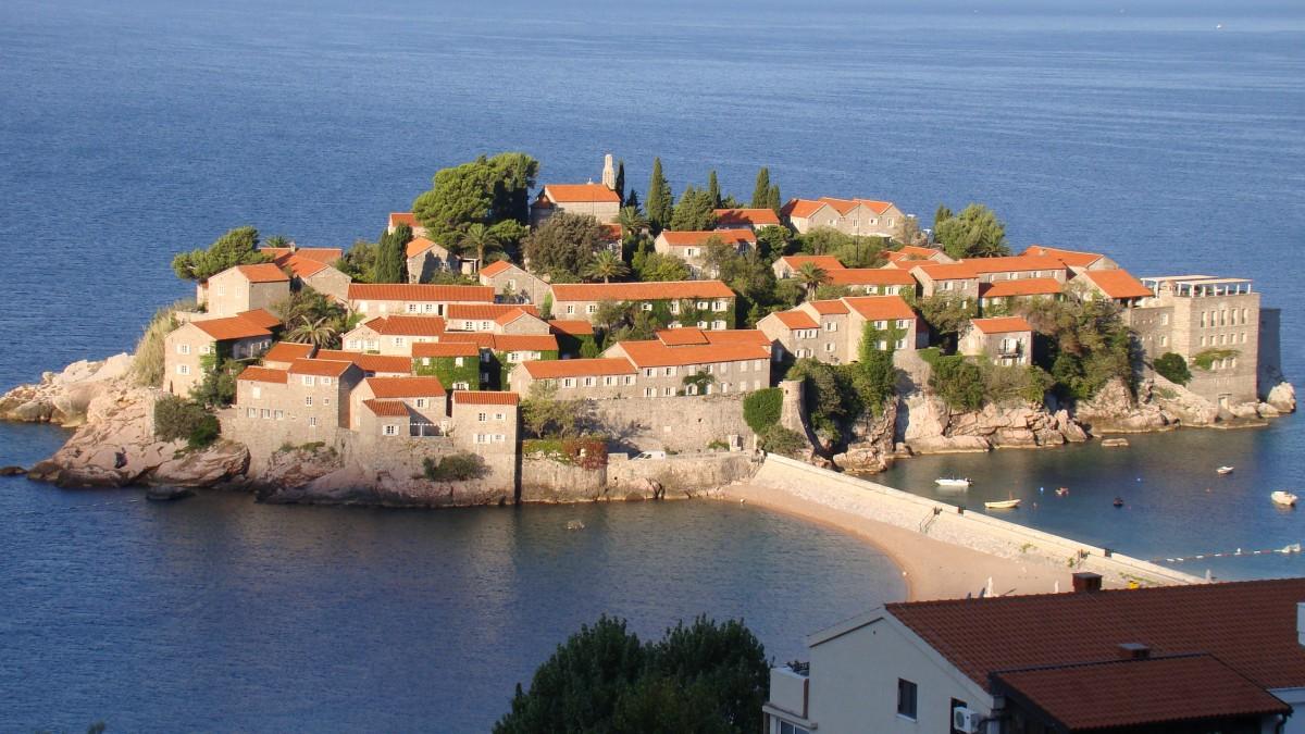 Zdjęcia: Czarnogóra, Budva, Wyspa św Stefana, CZARNOGÓRA