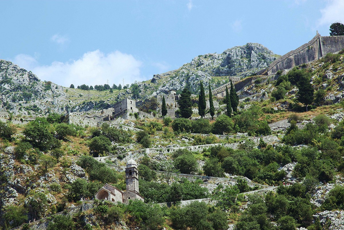 Zdjęcia: Kotor, Boka Kotorska, Mury Twierdzy św. Jana , CZARNOGÓRA