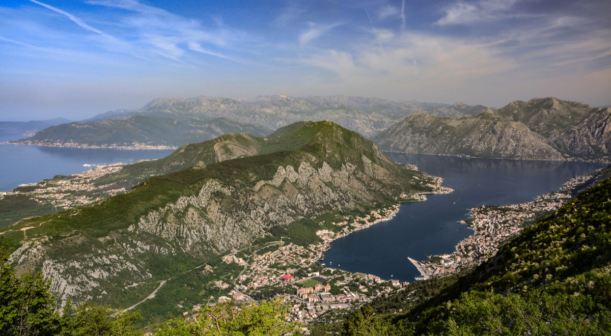 Zdjęcia:  przełęcz Krstac, widok z  przełęczy Krstac, CZARNOGÓRA