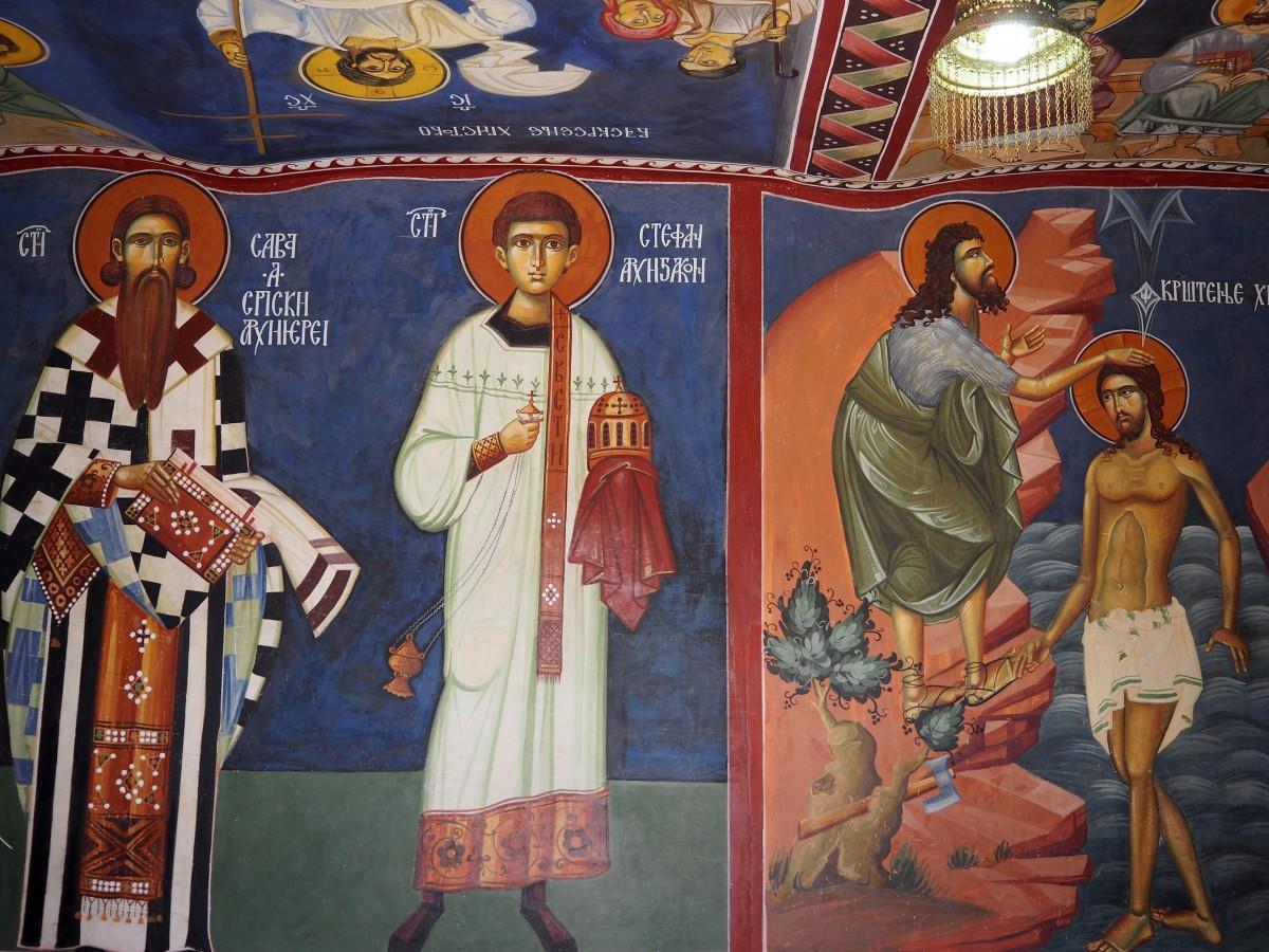 Zdjęcia: monastyr Ostrog, nad doliną Bjelopavlic, malowidła...., CZARNOGÓRA