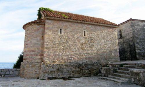Zdjęcie CZARNOGÓRA / - / Budva / Pochodząca z XII w Cerkiew sw Sawy