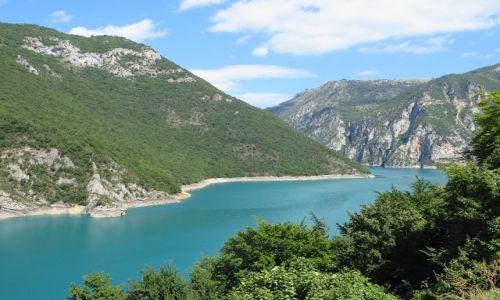 Zdjęcie CZARNOGÓRA / północna Czarnogóra / Trasa Foce - Niksic / zapora na Pivie