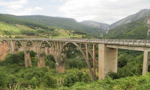 CZARNOGÓRA / północna Czarnogóra / P.N. Durmitor / most na rzece Tara