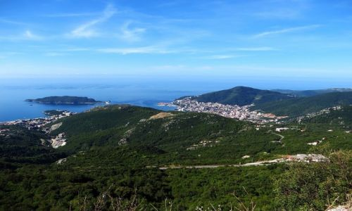 Zdjęcie CZARNOGÓRA / północna Czarnogóra / trasa Budva - P.N. Lovcen / panorama Budvy