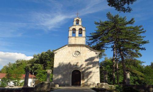 Zdjęcie CZARNOGÓRA / północna Czarnogóra / Cetinje / cerkiew Narodzin Bogurodzicy