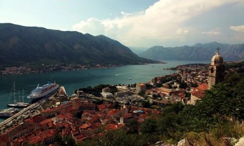 Zdjęcie CZARNOGÓRA / Kotor / Twierdza św. Jana / Zatoka Kotorska