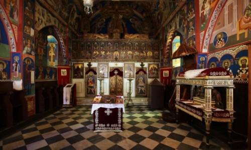 Zdjęcie CZARNOGÓRA / Budva / Stari Grad / Wnętrze cerkwii św. Trójcy