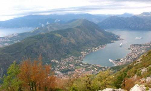 CZARNOGÓRA / Kotor / Widok na zatokę z