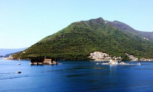 CZARNOG�RA / Kotor / Zatoka Kotorska / Wysepki z �wiatyniami