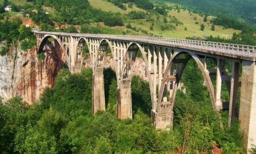 Zdjęcie CZARNOGÓRA / Czarnogóra / przy zbiegu dróg z Mojkovaca, Żabljaka i Pljevlji / Most na rzece Tara