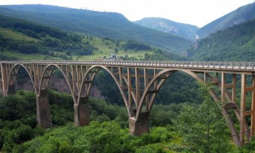 Zdjecie CZARNOGÓRA / Park Narodowy Durmitor / most nad Tarą / z innej perspektywy...