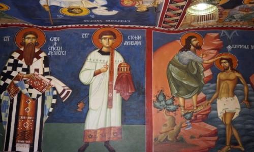 CZARNOGÓRA / - / monastyr Ostrog, nad doliną Bjelopavlic / malowidła....