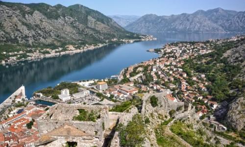 Zdjęcie CZARNOGÓRA / - / Kotor / widok z twierdzy św. Jana