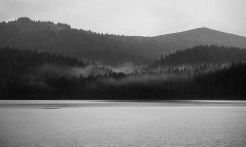 Zdjecie CZARNOGÓRA / Durmitor / Crno Jezero / w strugach deszczu...
