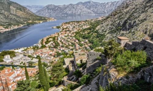 Zdjecie CZARNOGÓRA / - / Kotor / Kotor - widok z twierdzy