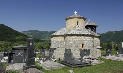 Zdjecie CZARNOGÓRA / Bijelo Polje / Zaton / Zaton – cmentarz i cerkiew św. Jana Chrzciciela