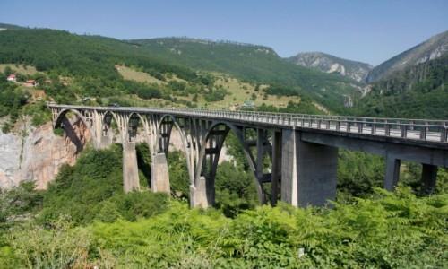 Zdjecie CZARNOGÓRA / Durmitor / Rasova / Most nad Tarą