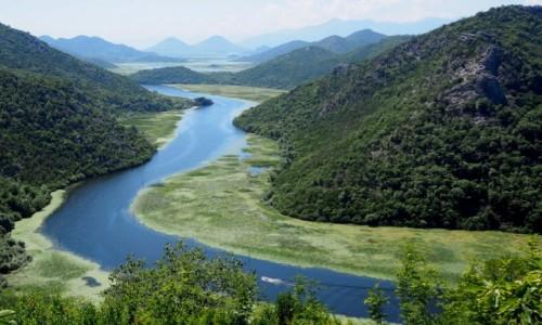 CZARNOGÓRA / - / zakole Crnojevicy / meandry rzeki Crnojevica...