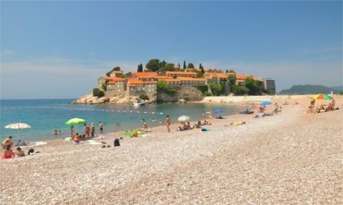 Zdjecie CZARNOGÓRA / Budva / Sveti Stefan / Plaża w Sveti Stefan